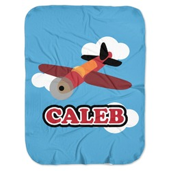 Airplane Baby Swaddling Blanket (Personalized)