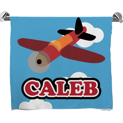 Airplane Full Print Bath Towel (Personalized)