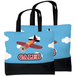 Airplane Beach Tote Bag (Personalized)