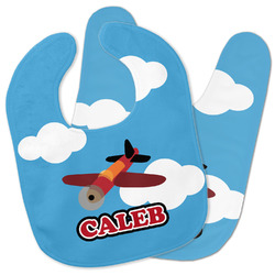 Airplane Baby Bib w/ Name or Text