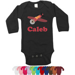 Airplane Long Sleeves Bodysuit - 12 Colors (Personalized)