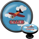 Airplane Cabinet Knob (Black) (Personalized)