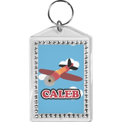 Airplane Bling Keychain (Personalized)