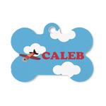 Airplane Bone Shaped Dog Tag (Personalized)