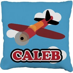 """Airplane Faux-Linen Throw Pillow 26"""" (Personalized)"""