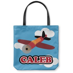 Airplane Canvas Tote Bag (Personalized)