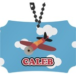 Airplane Rear View Mirror Ornament (Personalized)