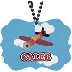 Airplane Rear View Mirror Charm (Personalized)