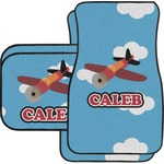 Airplane Car Floor Mats Set - 2 Front & 2 Back (Personalized)