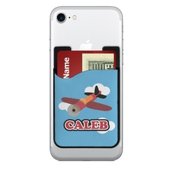 Airplane 2-in-1 Cell Phone Credit Card Holder & Screen Cleaner (Personalized)