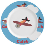 Airplane Ceramic Dinner Plates (Set of 4) (Personalized)