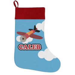 Airplane Holiday Stocking w/ Name or Text