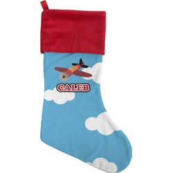 Airplane Christmas Stocking (Personalized)