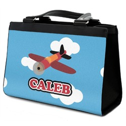 Airplane Classic Tote Purse w/ Leather Trim (Personalized)
