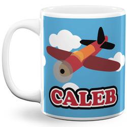 Airplane 11 Oz Coffee Mug - White (Personalized)