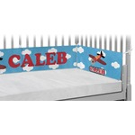 Airplane Crib Bumper Pads (Personalized)