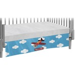 Airplane Crib Skirt (Personalized)
