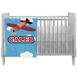 Airplane Crib Comforter / Quilt (Personalized)