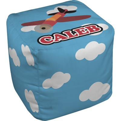 Airplane Cube Pouf Ottoman (Personalized)