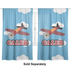 "Airplane Curtains - 20""x54"" Panels - Lined (2 Panels Per Set) (Personalized)"