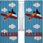 Airplane Curtains (2 Panels Per Set) (Personalized)