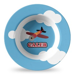 Airplane Plastic Bowl - Microwave Safe - Composite Polymer (Personalized)