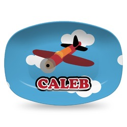 Airplane Plastic Platter - Microwave & Oven Safe Composite Polymer (Personalized)