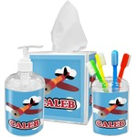 Airplane Acrylic Bathroom Accessories Set w/ Name or Text