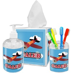 Airplane Bathroom Accessories Set (Personalized)