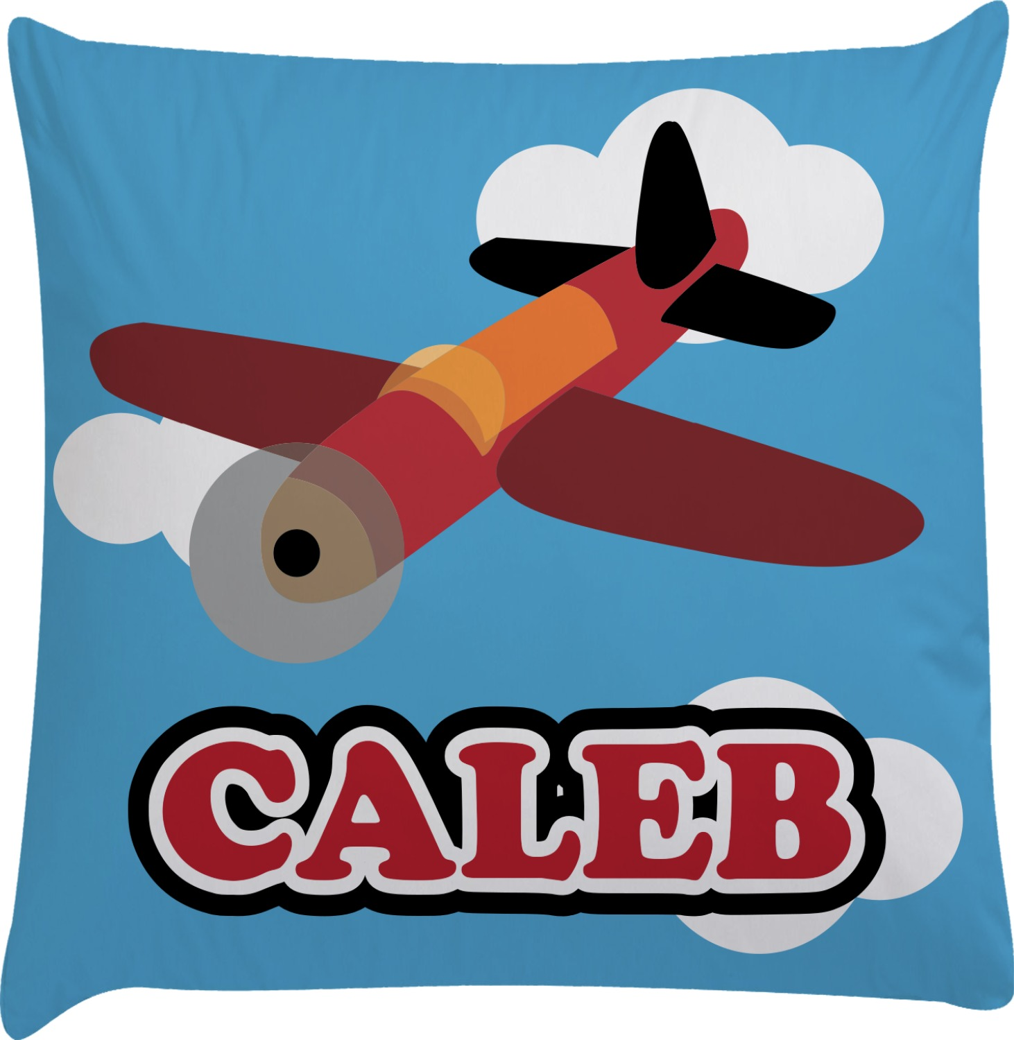 Decorative Airplane Pillow : Airplane Decorative Pillow Case (Personalized) - YouCustomizeIt