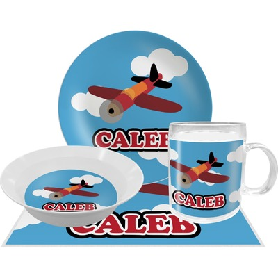 Airplane Dinner Set - 4 Pc (Personalized)