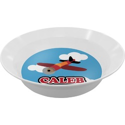 Airplane Melamine Bowl (Personalized)