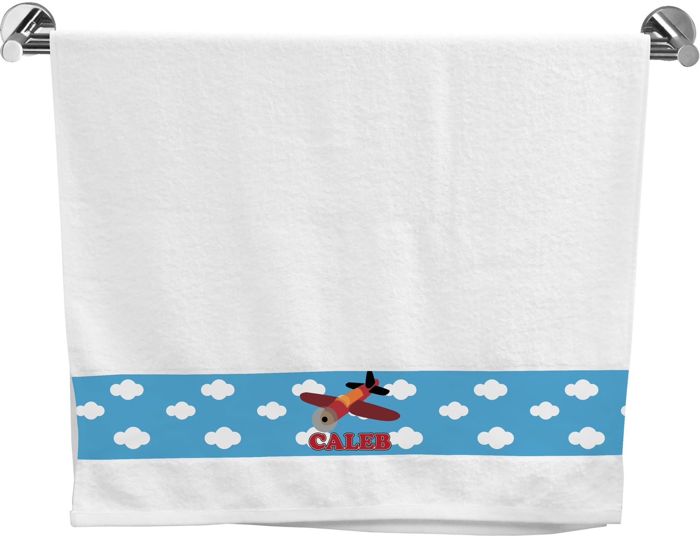 Airplane Bath Towel (Personalized) - YouCustomizeIt