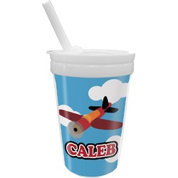 Airplane Sippy Cup with Straw (Personalized)