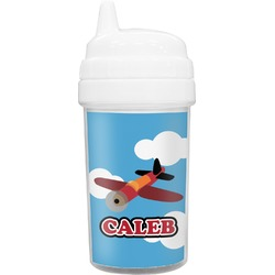 Airplane Toddler Sippy Cup (Personalized)