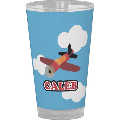 Airplane Drinking / Pint Glass (Personalized)