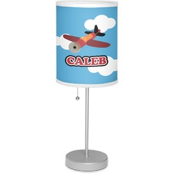 """Airplane 7"""" Drum Lamp with Shade (Personalized)"""