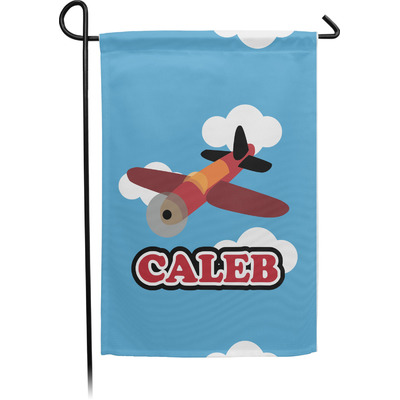 Airplane Garden Flag - Single or Double Sided (Personalized)
