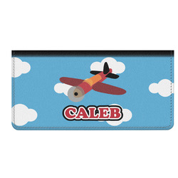 Airplane Genuine Leather Checkbook Cover (Personalized)
