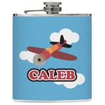 Airplane Genuine Leather Flask (Personalized)
