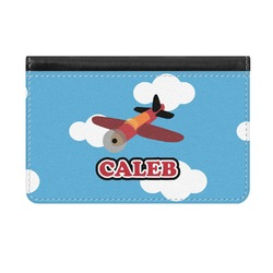 Airplane Genuine Leather ID & Card Wallet - Slim Style (Personalized)