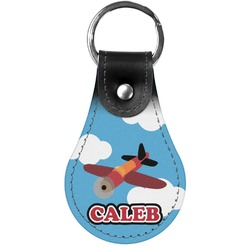 Airplane Genuine Leather  Keychains (Personalized)