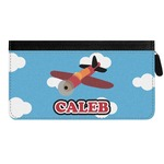 Airplane Genuine Leather Ladies Zippered Wallet (Personalized)