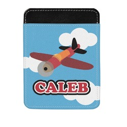 Airplane Genuine Leather Money Clip (Personalized)