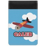 Airplane Genuine Leather Small Memo Pad (Personalized)