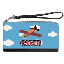 Airplane Genuine Leather Smartphone Wrist Wallet (Personalized)