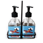 Airplane Soap & Lotion Dispenser Set (Glass) (Personalized)