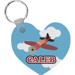 Airplane Heart Keychain (Personalized)