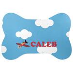 Airplane Bone Shaped Dog Food Mat (Personalized)