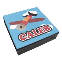 Airplane Leatherette Keepsake Box - 3 Sizes (Personalized)